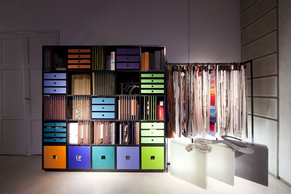 new crazy colors material showroom